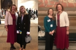 Victoria Prentis MP with Cllr Lucinda Wing and Dr Samantha Decombel
