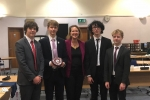 Victoria and the winners of the Cherwell Democracy Challenge