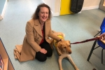 Victoria Prentis MP and Barney the Service Dog