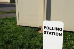Polling station in Bicester